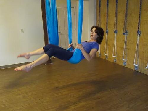 Létající jóga, skvělé uvolnění v závěsu